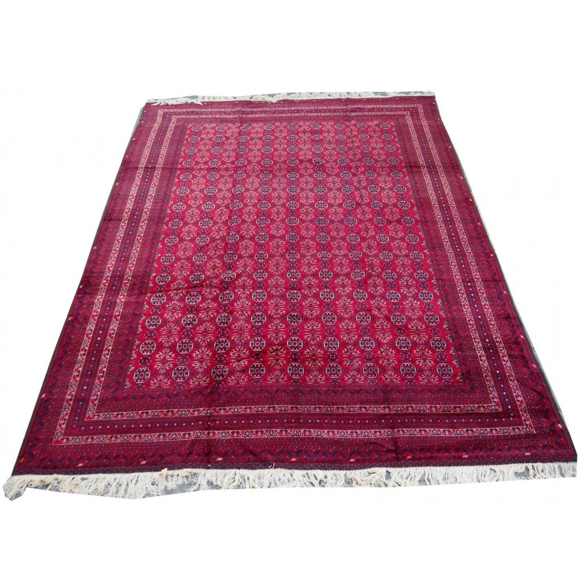 Turkmen bukhari alfombra de área anudada a mano de calidad súper fina 450x310 cm