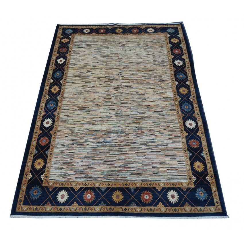 Afghan style woven Ziegler design handspun organic dyed vintage area rug.300x200cm
