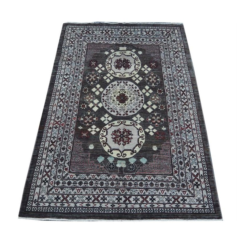 Tribal Persian design afghan woven organic dyed vintage area rug.270x180cm