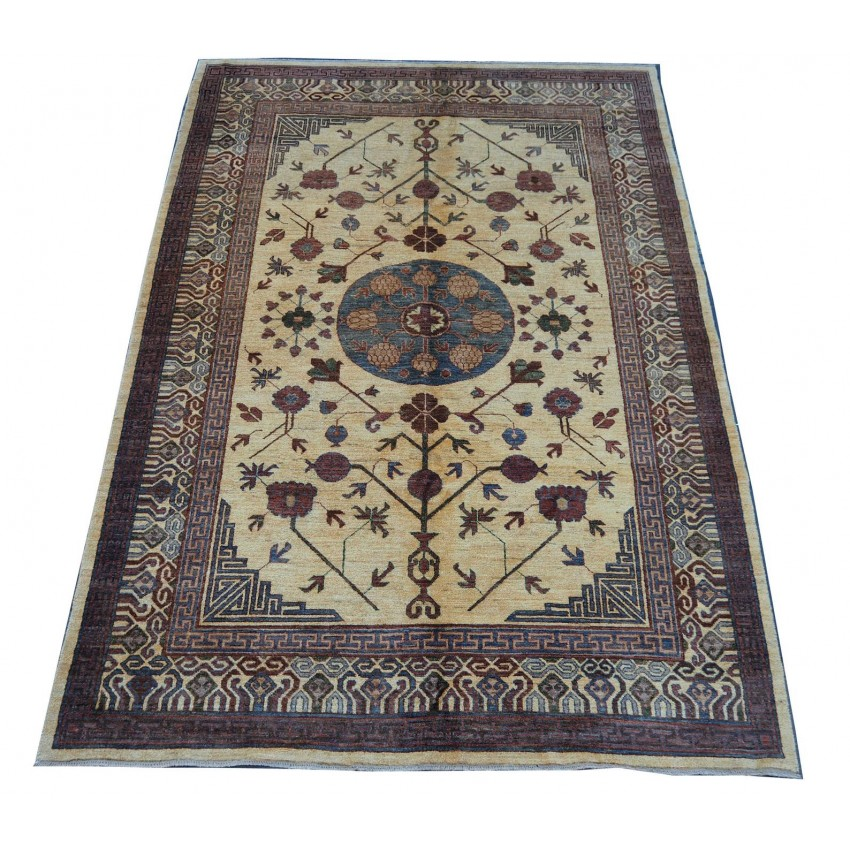 Tribal Persian design afghan woven organic dyed vintage area rug.300x200cm