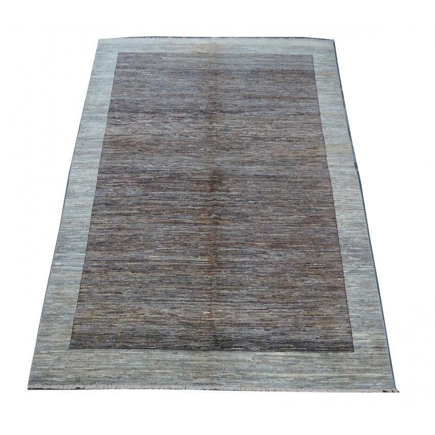 Contemporary Abrush handspun wool hand made organic dyed vintage area rug.293x200cm