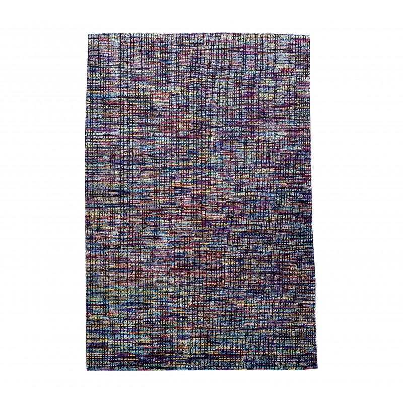 Beautiful Silk and wool contemporary Hand knotted afghan rug.253x2167cm
