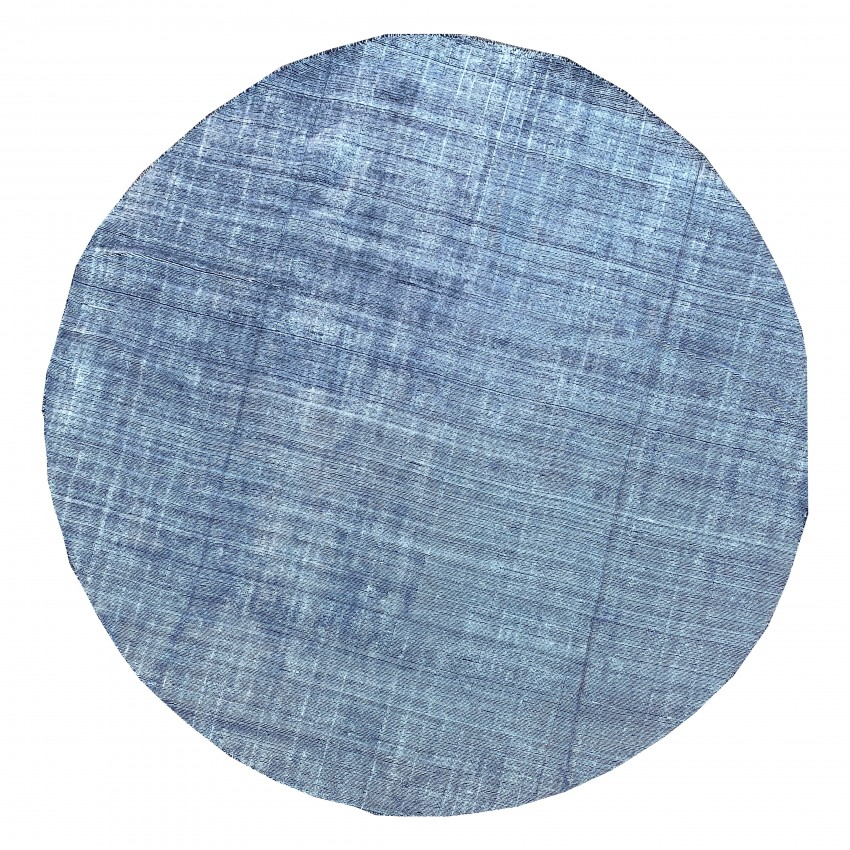 Beautiful Silk and wool contemporary Hand knotted Round Rug.300x300cm