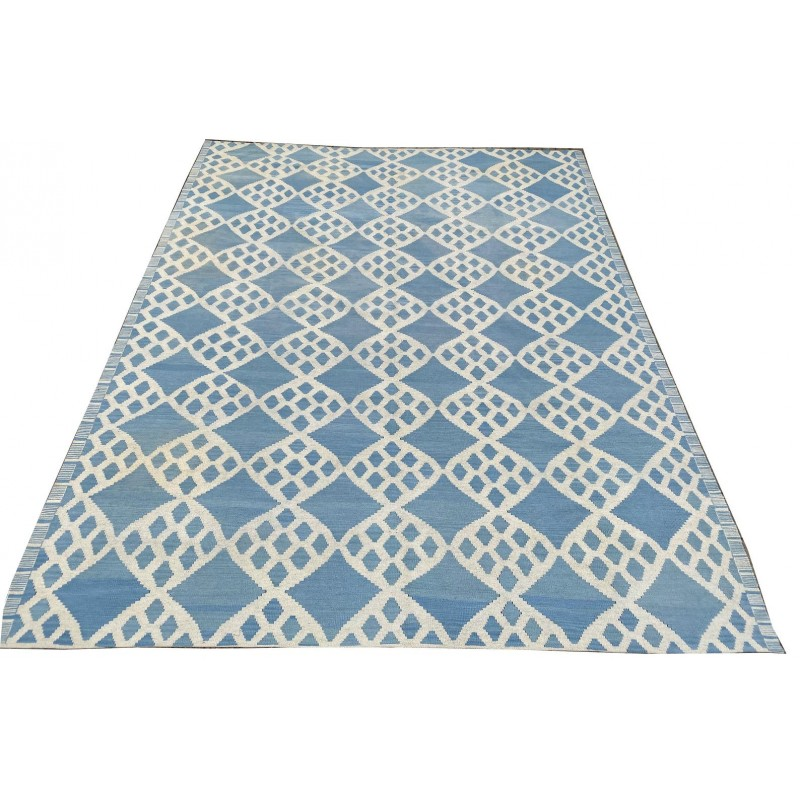 Contemporary beautiful hand made organic dyed woolen kilim. 347 x 268 cm