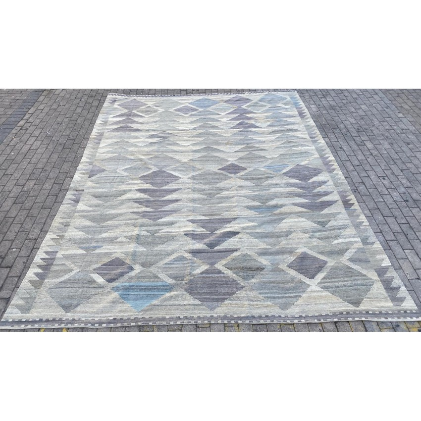 Contemporary flat woven hand made rug kilim. 382 x 303 cm