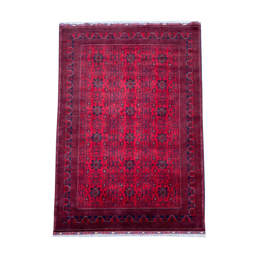 Maranoos Traditional Afghan Hand knotted wool area rug. 292 x 200 cm