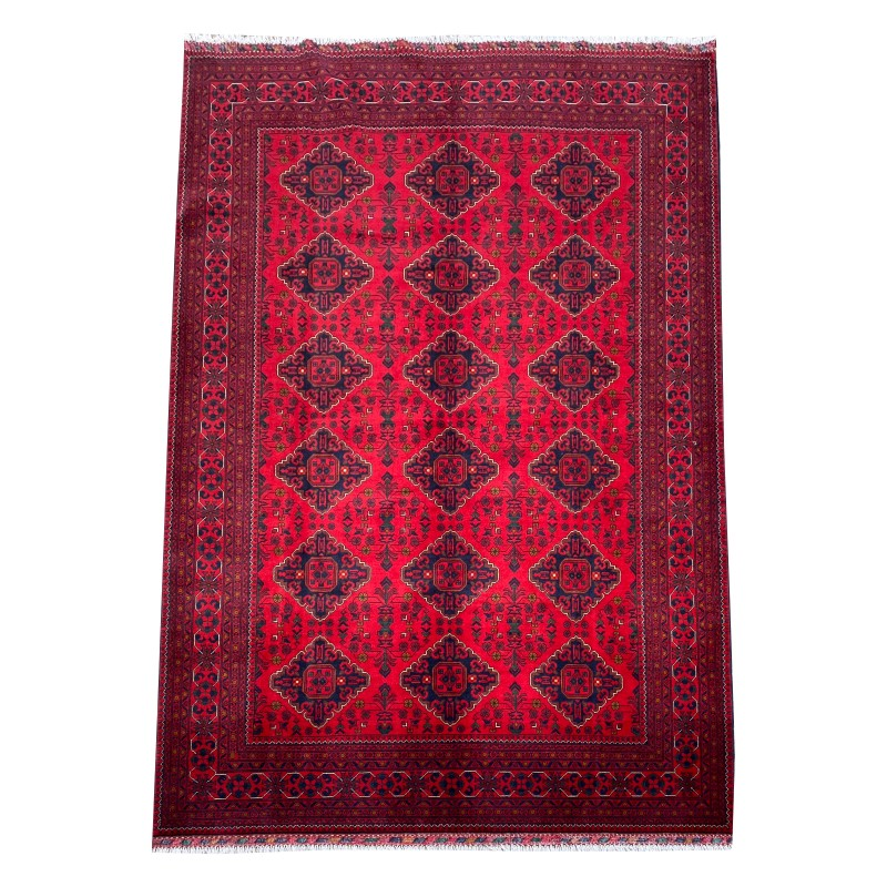 Maranoos Traditional Afghan Hand knotted wool area rug. 298 x 203 cm